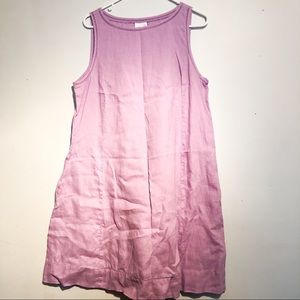 J. Jill lavender linen sleeveless dress